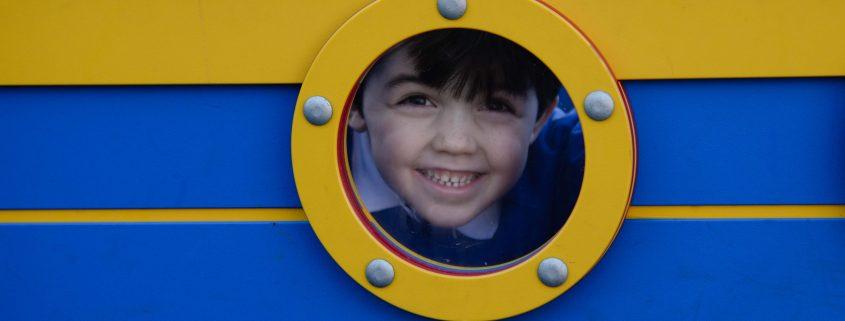 boy in play boat