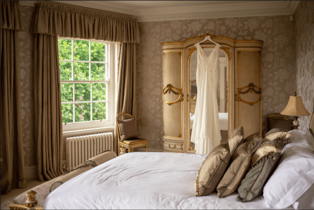 Delamere Manor bridal suite in Cheshire