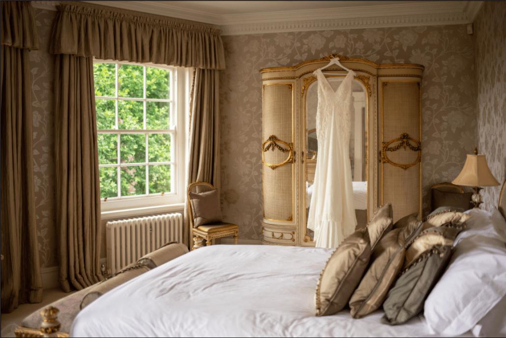 Delamere Manor bridal suite in Cheshire