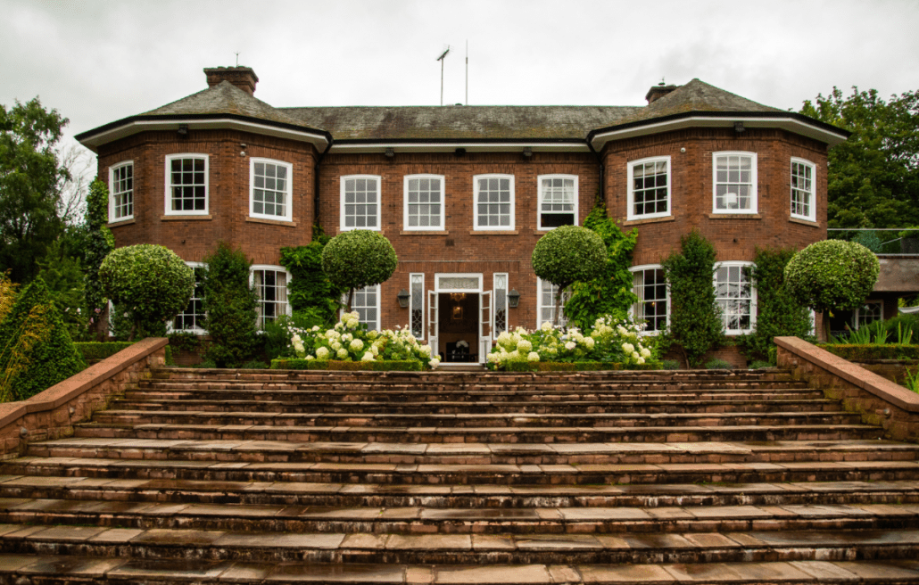The outside of Delamere Manor in Delamere, Cheshire